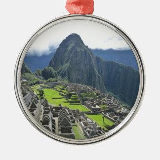 Machu Picchu Metal Ornament
