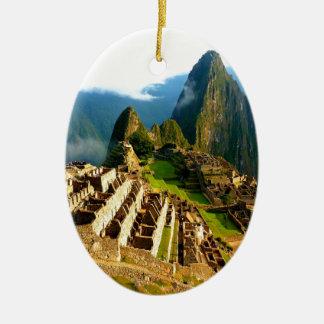 machu picchu peru inca ceramic ornament