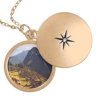 Machu Picchu Peru - Machu Picchu Ruins Sunrise Locket Necklace