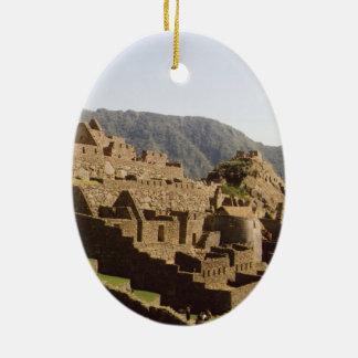 Machu Picchu Peru - Sun Gate View of Ruins Ceramic Ornament