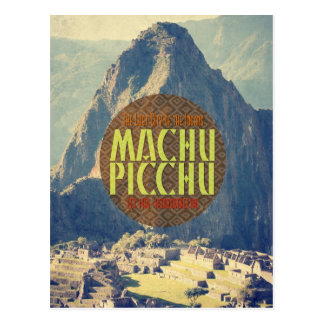 Machu Picchu Peru Travel Postcard