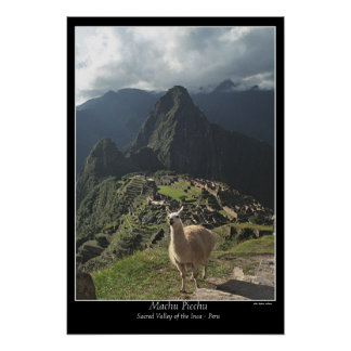 Machu Picchu Poster (Seven Wonders of the World)