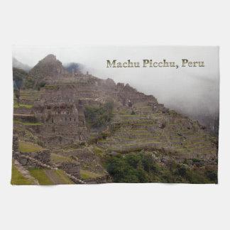 Machu Picchu Ruins, Peru Close Up Kitchen Towel