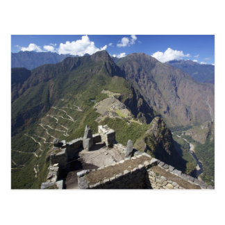 Machu Picchu viewed from Huayna Picchu peak, Postcard