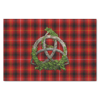 MacIver Tartan And Celtic Trinity Knot Tissue Paper
