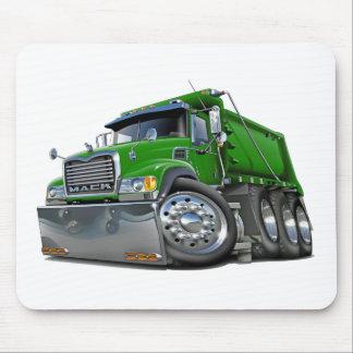 Mack Dump Truck Green Mouse Pad