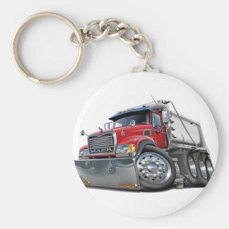 Mack Dump Truck Red-White Basic Round Button Keychain