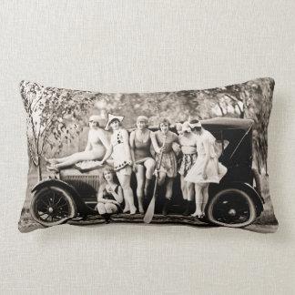Mack Sennett Bathing Beauties and Tin Lizzie Lumbar Pillow