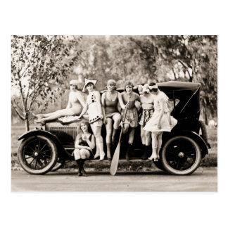 Mack Sennett Girls Bathing Beauty Queens Vintage Postcard
