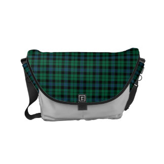 MacKay Clan Green and Blue Scottish Tartan Messenger Bags