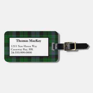 MacKay Clan Tartan Plaid Luggage Tag