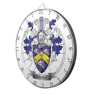 MacKay Family Crest Coat of Arms Dartboard