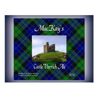 MacKay's Castle Varrich Ale Postcard