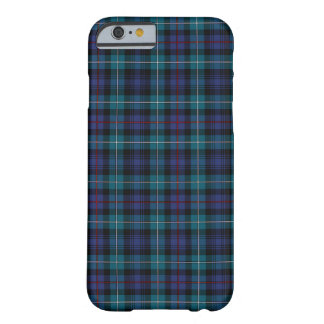 Mackenzie Clan Blue and Turquoise Modern Tartan Barely There iPhone 6 Case