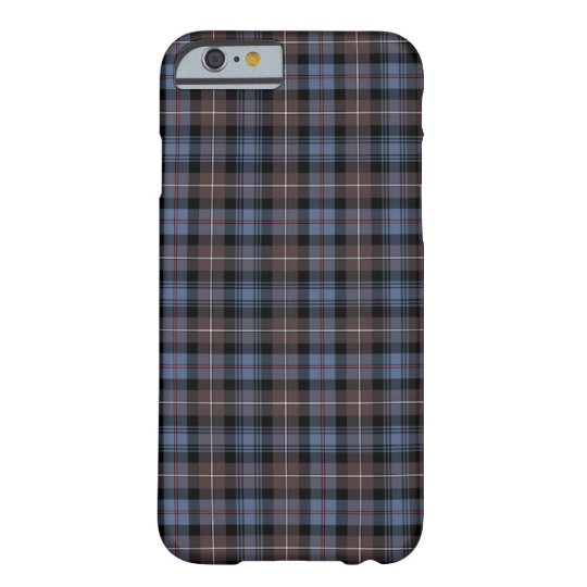Mackenzie Clan Brown and Blue Reproduction Tartan Barely There iPhone 6 Case
