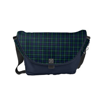 Mackenzie Clan Dark Blue and Green Scottish Tartan Commuter Bag