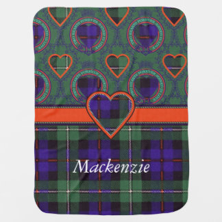 Mackenzie clan Plaid Scottish tartan Baby Blanket
