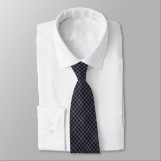 Mackenzie Clan Reproduction Tartan Brown Plaid Tie