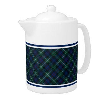 Mackenzie Clan Tartan Navy Blue and Green Plaid