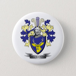 MacKenzie Family Crest Coat of Arms 2 Inch Round Button