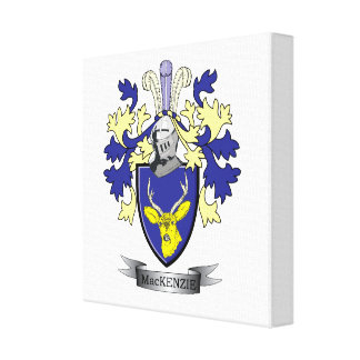 MacKenzie Family Crest Coat of Arms Canvas Print