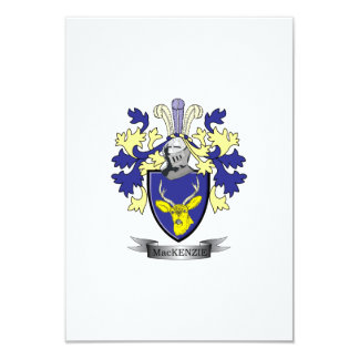 MacKenzie Family Crest Coat of Arms Card