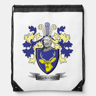 MacKenzie Family Crest Coat of Arms Drawstring Bag