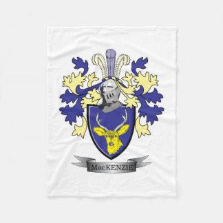 MacKenzie Family Crest Coat of Arms Fleece Blanket
