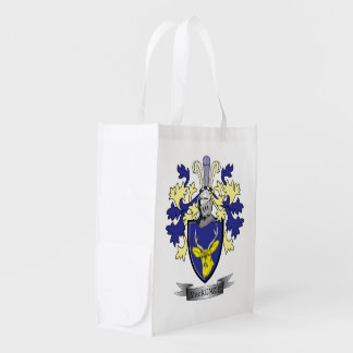 MacKenzie Family Crest Coat of Arms Grocery Bags