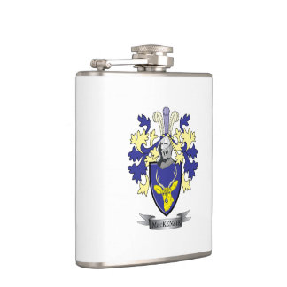 MacKenzie Family Crest Coat of Arms Hip Flask