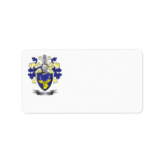 MacKenzie Family Crest Coat of Arms Label
