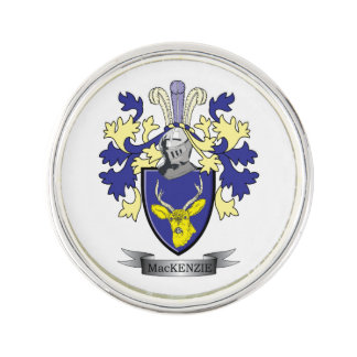 MacKenzie Family Crest Coat of Arms Lapel Pin