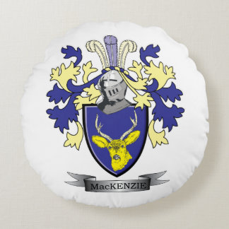 MacKenzie Family Crest Coat of Arms Round Pillow