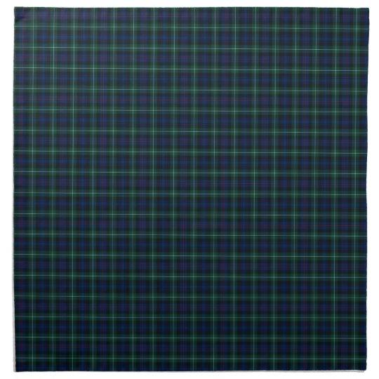 Mackenzie Family Tartan Dark Green and Blue Plaid Cloth Napkins