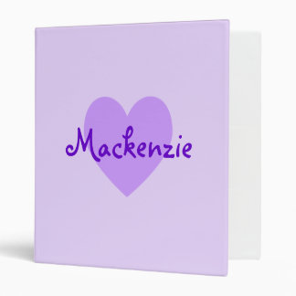 Mackenzie in Purple Binder