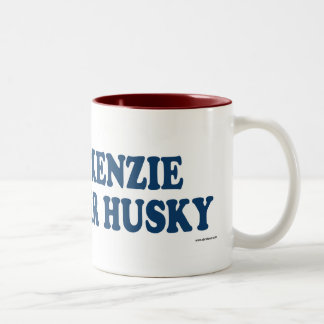 Mackenzie River Husky Blue Two-Tone Coffee Mug