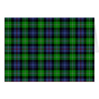 MacKenzie Tartan (aka Seaforth Highlanders Tartan) Card