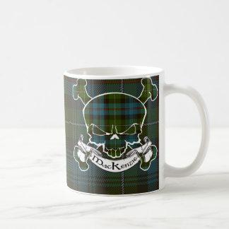 MacKenzie Tartan Skull Coffee Mug