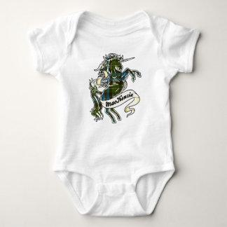MacKenzie Tartan Unicorn Baby Bodysuit