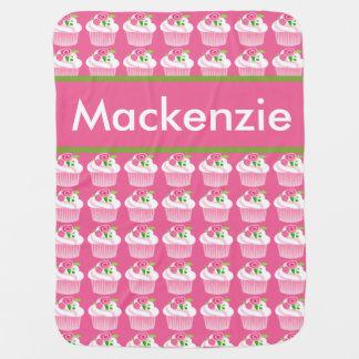 Mackenzie's Personalized Cupcake Blanket Baby Blankets