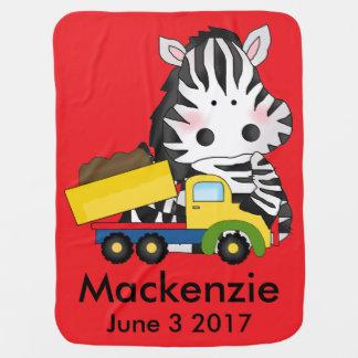Mackenzie's Personalized Zebra Baby Blanket