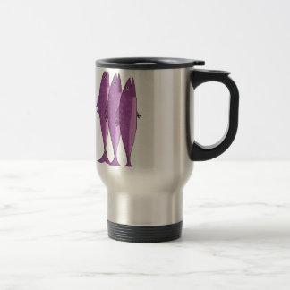 Mackerel - magenta travel mug