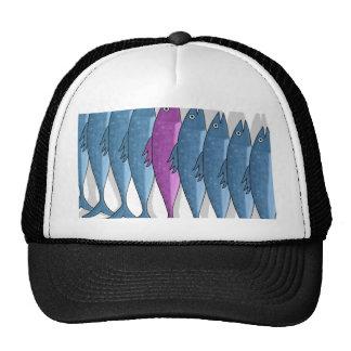 Mackerel military trucker hat