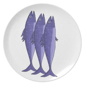 Mackerel - purple dinner plates