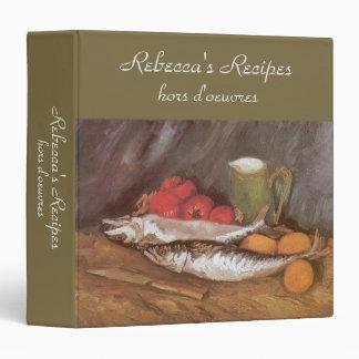 Mackerels, Lemons and Tomatoes by Vincent van Gogh Vinyl Binder