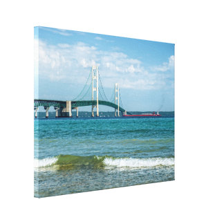 Mackinac Bridge in Summer Canvas Print