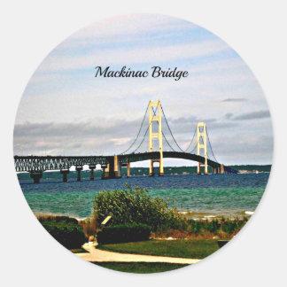 Mackinac Bridge, Mackinac Island Classic Round Sticker