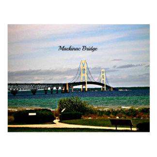 Mackinac Bridge, Mackinac Island Postcard