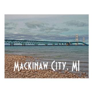 Mackinac Bridge Mackinaw City, MI Postcard