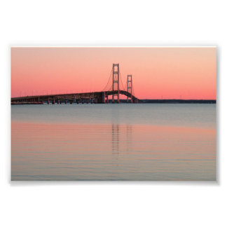Mackinac Bridge, Michigan Photo Print